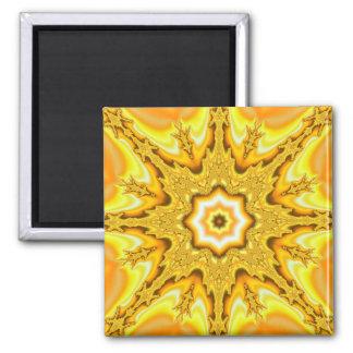 Gold Star Fractal Magnet