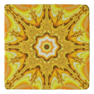 Gold Star Fractal Trivet
