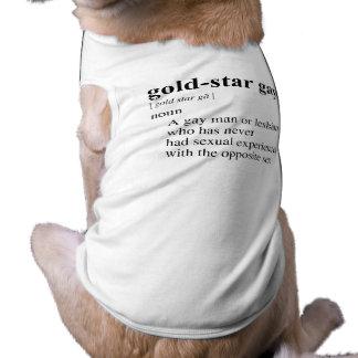 GOLD-STAR GAY SLEEVELESS DOG SHIRT