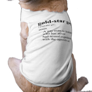 GOLD-STAR GAY DOG TSHIRT