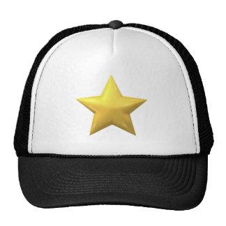 Gold Star Mesh Hat