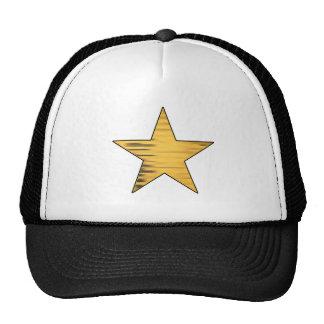 Gold Star Mesh Hats