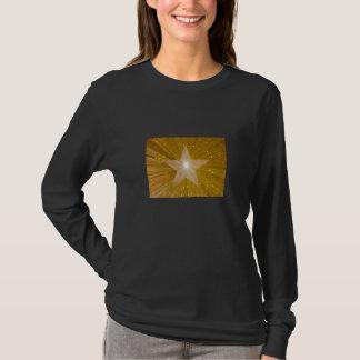 """Gold"" Star long sleeve black T-Shirt"