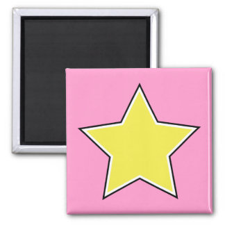 Gold Star Square Magnet