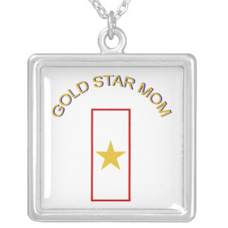 Gold Star Mom Silver Plated Necklace