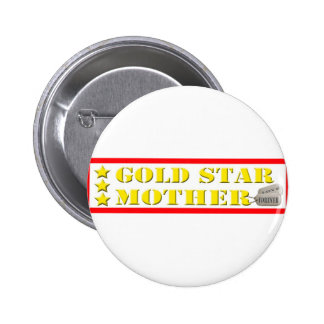Gold Star Mother - 3 Stars Button