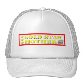 Gold Star Mother - 3 Stars Mesh Hat