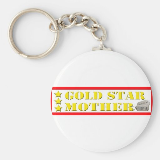 Gold Star Mother - 3 Stars Key Chains