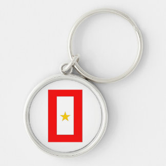 GOLD STAR MOTHERS Silver-Colored ROUND KEY RING