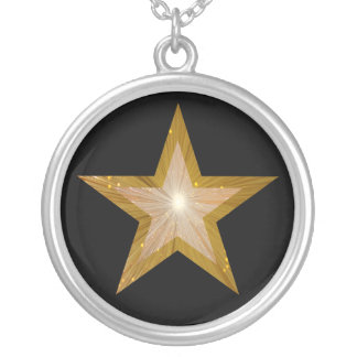 Gold Star necklace black