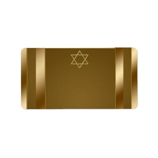 Gold Star of David Address Labels