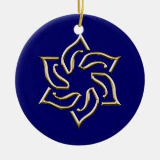 Gold Star of David Hanukkah Ornament