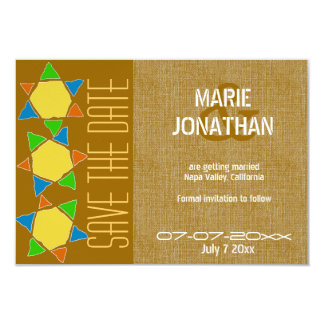 Gold Star of David Jewish Save the Date wedding Personalized Invite