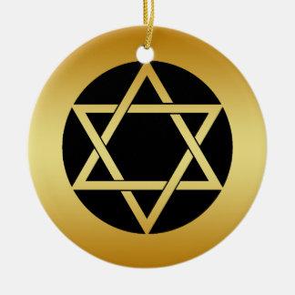 GOLD STAR OF DAVID ORNAMENT
