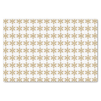 "Gold Star Pattern 10"" X 15"" Tissue Paper"