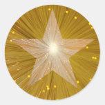 Gold Star round sticker