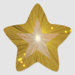 """Gold"" Star sticker star shape"