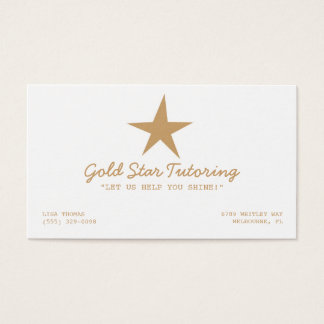 Gold Star Tutoring Business Card