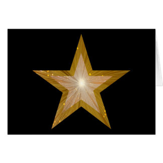Gold Star two tone Congratulations card black
