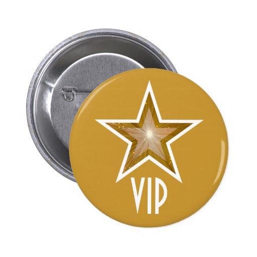"""Gold"" Star 'VIP' button gold"