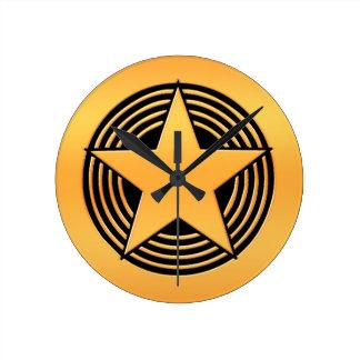 Gold Star Wall Clocks