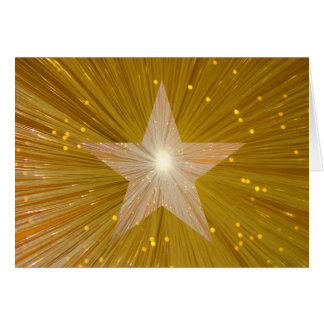 Gold Star 'Well Done!' greetings card