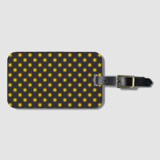Gold Star with Black Background Luggage Tag