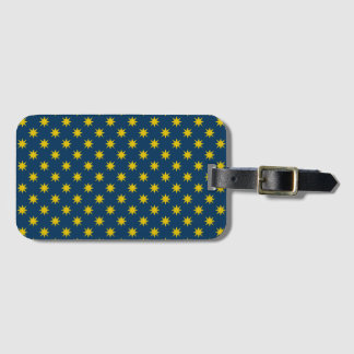 Gold Star with Navy Background Luggage Tag