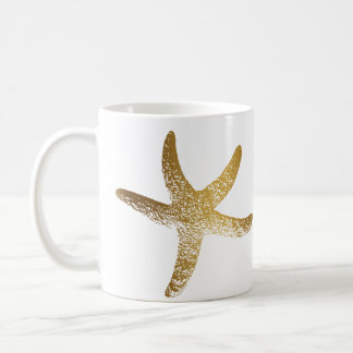Gold Starfish Mug