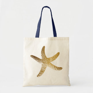 Gold Starfish Tote