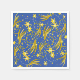 Gold Stars and Comets Space Galaxy Paper Napkin