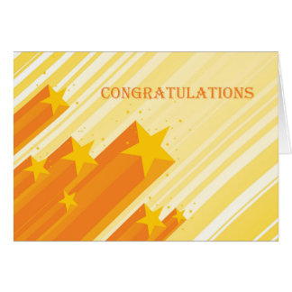 Gold Stars, Congratulations Greeting Card