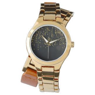 Gold Stars - Custom gold wrap-around Watch