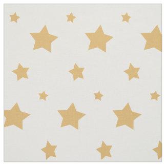 Gold Stars Fabric