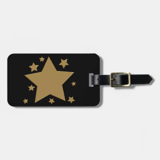Gold Stars Travel Bag Tags