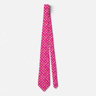 Gold stars on fuchsia pink tie