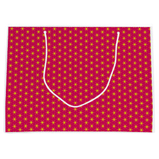 Gold Stars on Red Large Gift Bag
