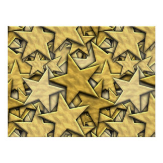 Gold Stars Print
