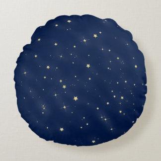Gold Stars Round Cushion