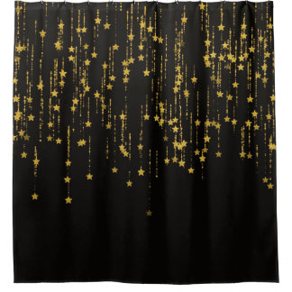 Gold Stars - Shower curtain