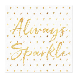 Gold Stars Sparkle Canvas Print