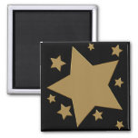 Gold Stars Square Magnet