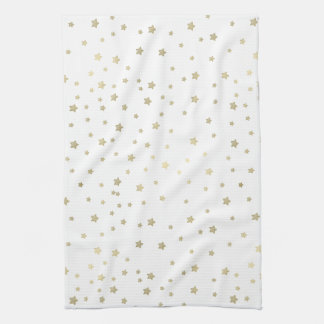 Gold Stars Tea Towel