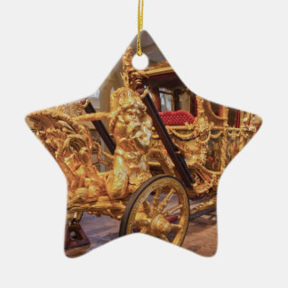 Gold State Coach London Christmas Ornament
