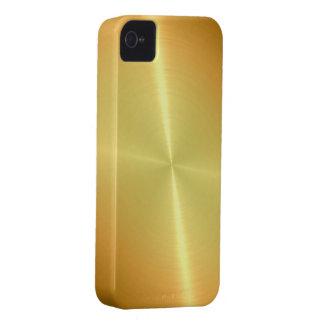 Gold Steel Metal Look iPhone 4 Case-Mate Case