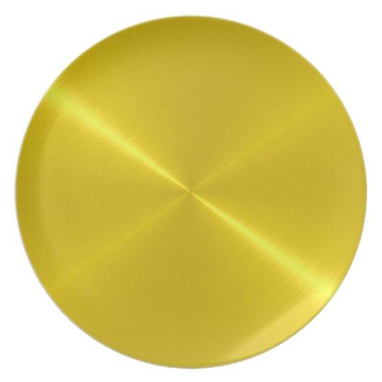 Gold Steel Metal Plate