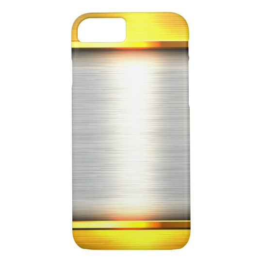 gold steel metal plate textures iPhone 7 case