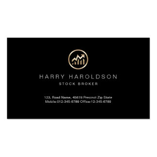 Gold Stock Chart Icon Stock Broker Business Card