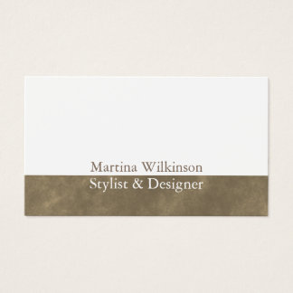Gold stone marble classy cover business card