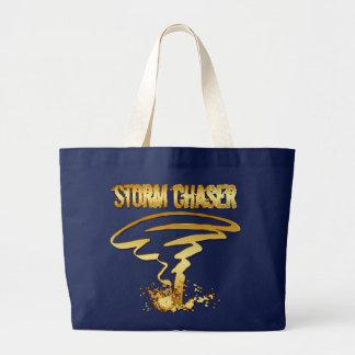 GOLD STORM CHASER LARGE TOTE BAG